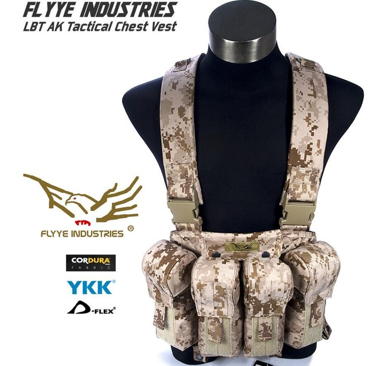 In stock FLYYE genuine MOLLE  LBT AK Tactical Chest Vest  Military Tactical Vest VT-C006