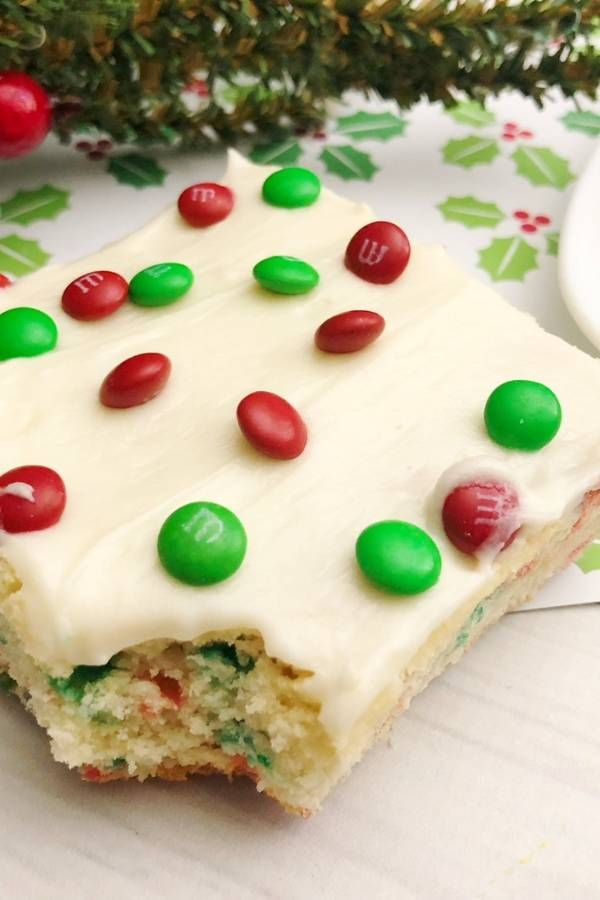 A soft tender sugar cookie base with frosting and sprinkles of MM\u0027s