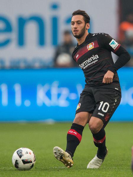 Hakan Calhanoglu of Leverkusen in action during the Bundesliga match between Bayer 04 Leverkusen and SV Darmstadt 98 at BayArena on November 5, 2016 in Leverkusen, Germany.
