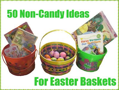 50 things (other than candy) to put in your child's Easter basket: Non Candy Easter, Child Easter, Ideas For Easter Baskets, 50 Non Candy, Children, Non Candy Ideas, Baskets Ideas, 50 Things, Easter Ideas