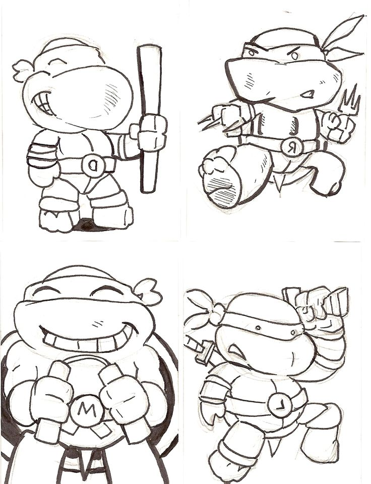 Free coloring pages of baby ninja turtle