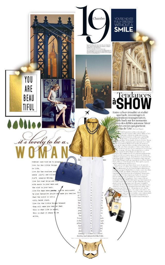 Love for #GOLD by marycuties on Polyvore featuring polyvore fashion style Andrew Gn M&S Giuseppe Zanotti Prada rag & bone Chanel clothing