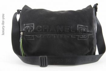 Chanel Sports Messenger aus Canvas in Schwarz/Neon Grün *UNISEX*