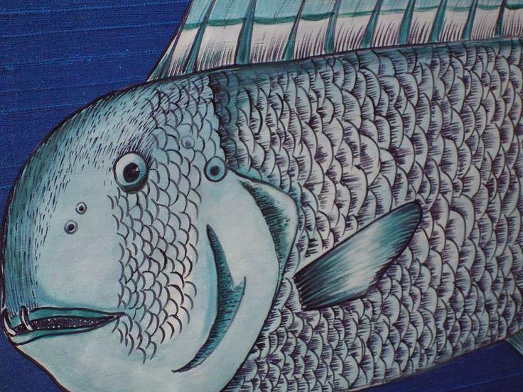 Querido Mudei a Casa Tv Show - Before special project for the Querido Mudei a Casa Tv Show - Sushi & Fish restaurant over the Carcavelos Beach in Lisbon. cobalt blue, coastal, cole&son wallpaper 'acuario', floor & silver wall by lovetiles