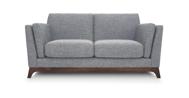 Ceni Coral Gray Loveseat - Loveseats - Bryght   Modern, Mid-Century and Scandinavian Furniture