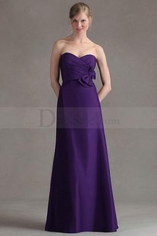 Elegant Satin Bridesmaid Gown with Sweetheart Neckline @Jackie Godbold Bairos @Mandy Bryant Bairos