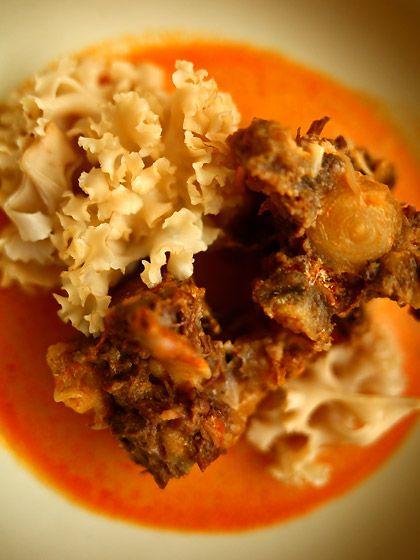 牛テールのレッドカレー&ハナビラダケ(Thai curry)