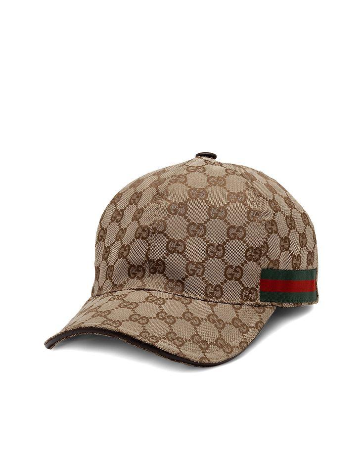 Gucci Hats For Men: Gucci Canvas Baseball Hat, Men's, Size: XL, Beige