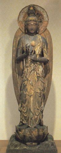 観音菩薩立像-kannonbosaturyuuzou- (Avalokiteśvara Bodhisattva) The bodhisattva who rescues people from suffering. 鞍馬寺(kuramadera)
