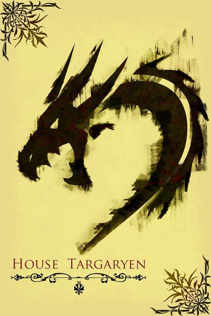 Harshness Games Of Throne House Targaryen Poster
