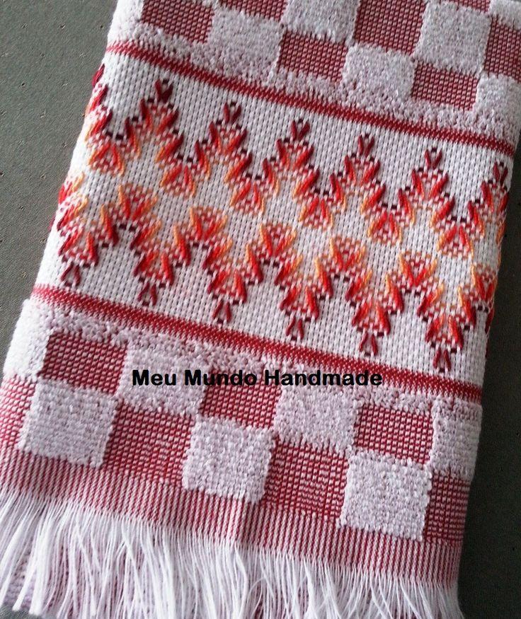 Pano de Prato bordado em Vagonite. #Embroidery #Handmade