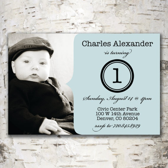 Custom Digital Photo BIRTHDAY INVITATION Design - Charles