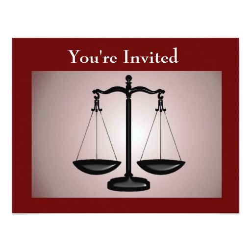 law school graduation invitation - Law School Graduation Invitations