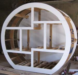 Haut du meuble chinois en carton terminé ! - meubles en carton marie krtonne