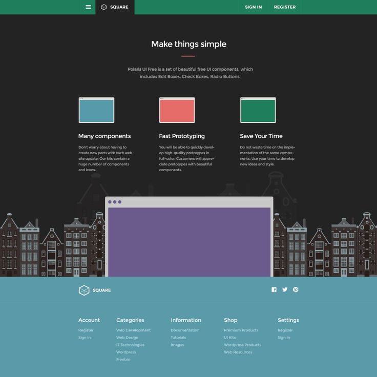 Square UI - User Interface Kit from Designmodo.
