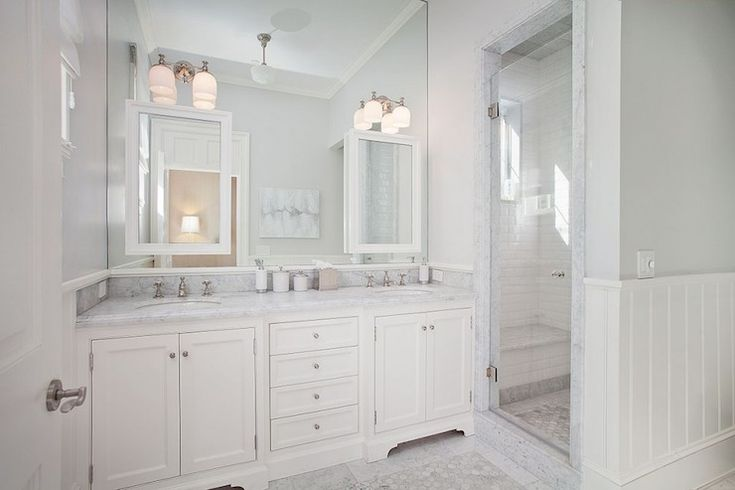 Rt Abbott Construction Bathrooms White And Grey