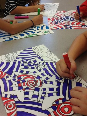 Fifth Grade Optical Illusions - its an HSES Arty Party!
