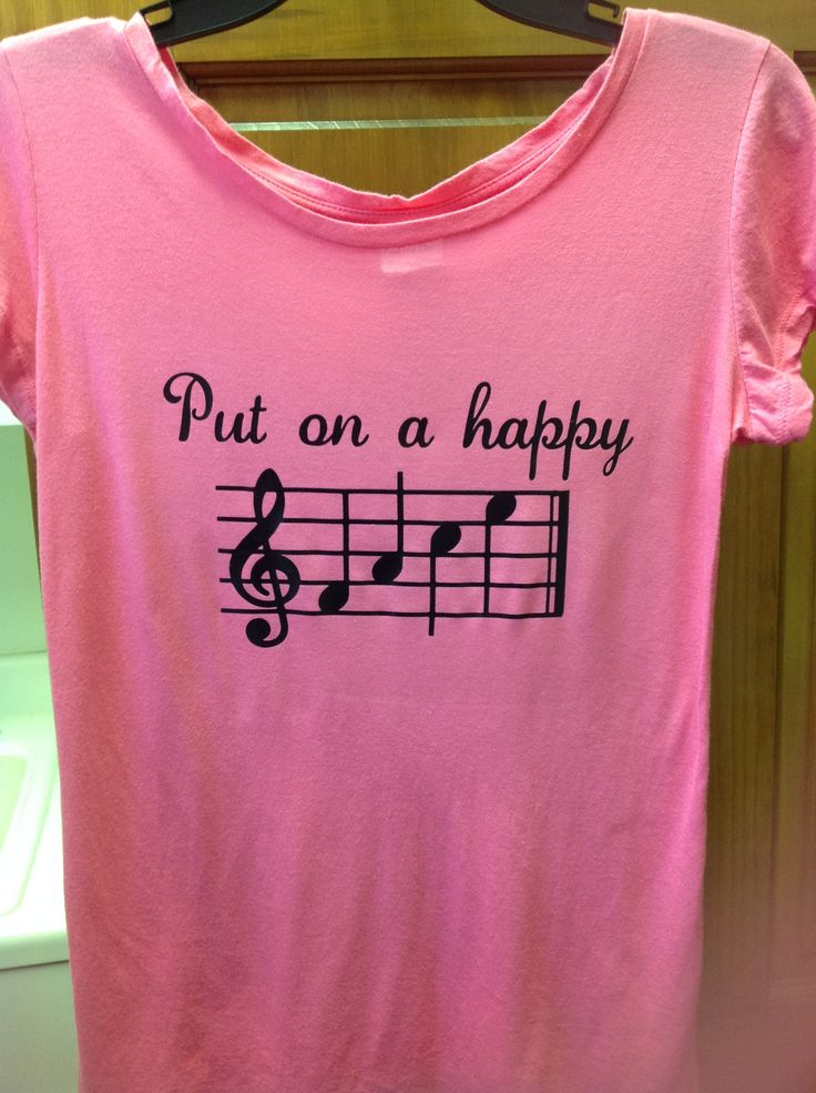 Fun t-shirt idea for music-lovers using heat transfer vinyl.