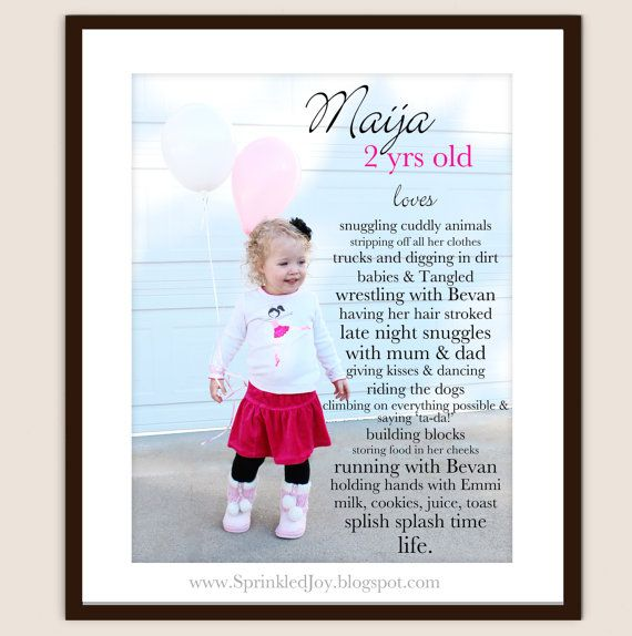 Milestone print I did for my cute baby girl:) Fully customizable:)