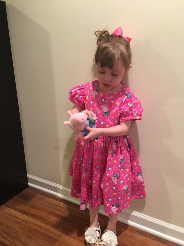 Peppa Pig Girls Toddler Pink Dress Size 2T 3T 4T READY TO   Etsy in 2020   Toddler girl. Pink toddler dress. Pink dress