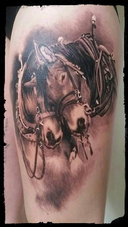 Horse tattoo, equestrian tattoo by JP Wikman