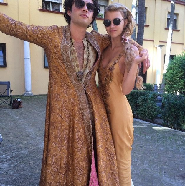 Toby Sebastian and Nell Tiger Free (Trystane and Myrcella) {Photo via Nell's Instagram}