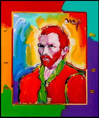 Vincent Van Gogh Pop Art Portrait by Peter Max