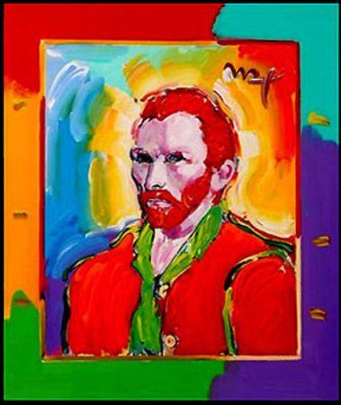 Vincent Van Gogh Pop Art Portrait by Peter Max