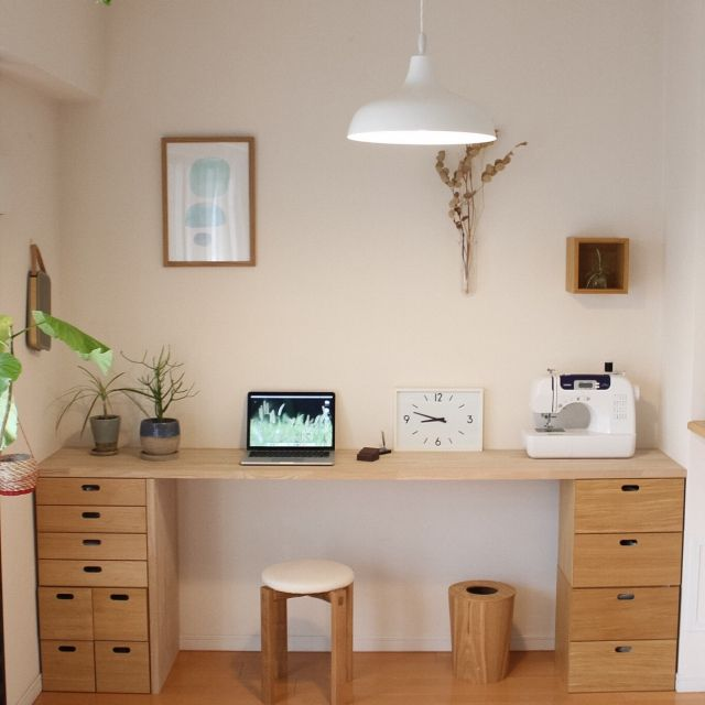 K_luckyさんの、My Desk,無印良品,DIY,IDEE 照明,B
