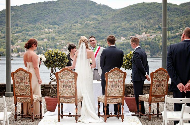 Ceremony at Villa Carlotta!