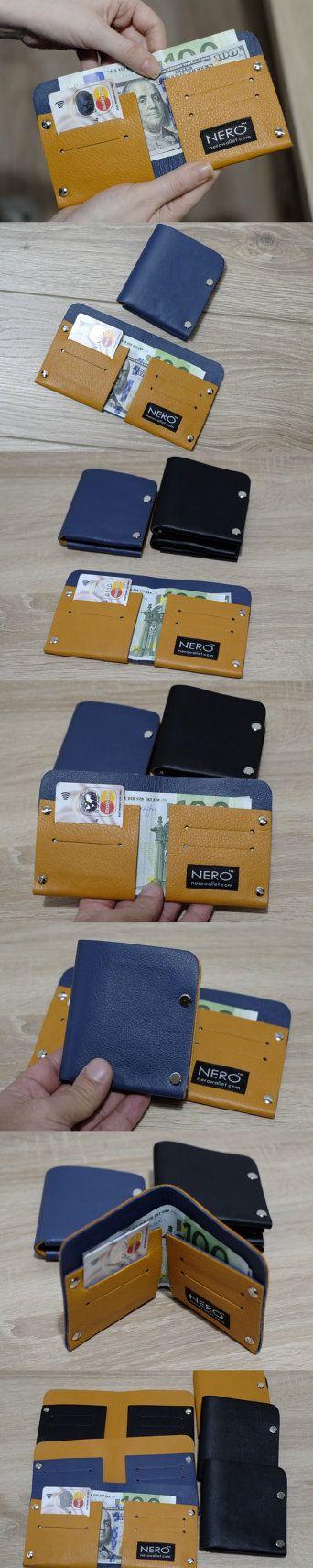 NERO Bifold Wallet Minimalist Wallet Mens Wallet by NeroWallet
