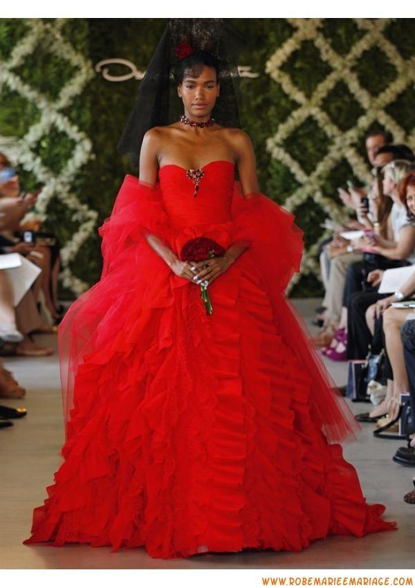 Boutique robe 2013 rouge originale avec étole robe de mariage organza