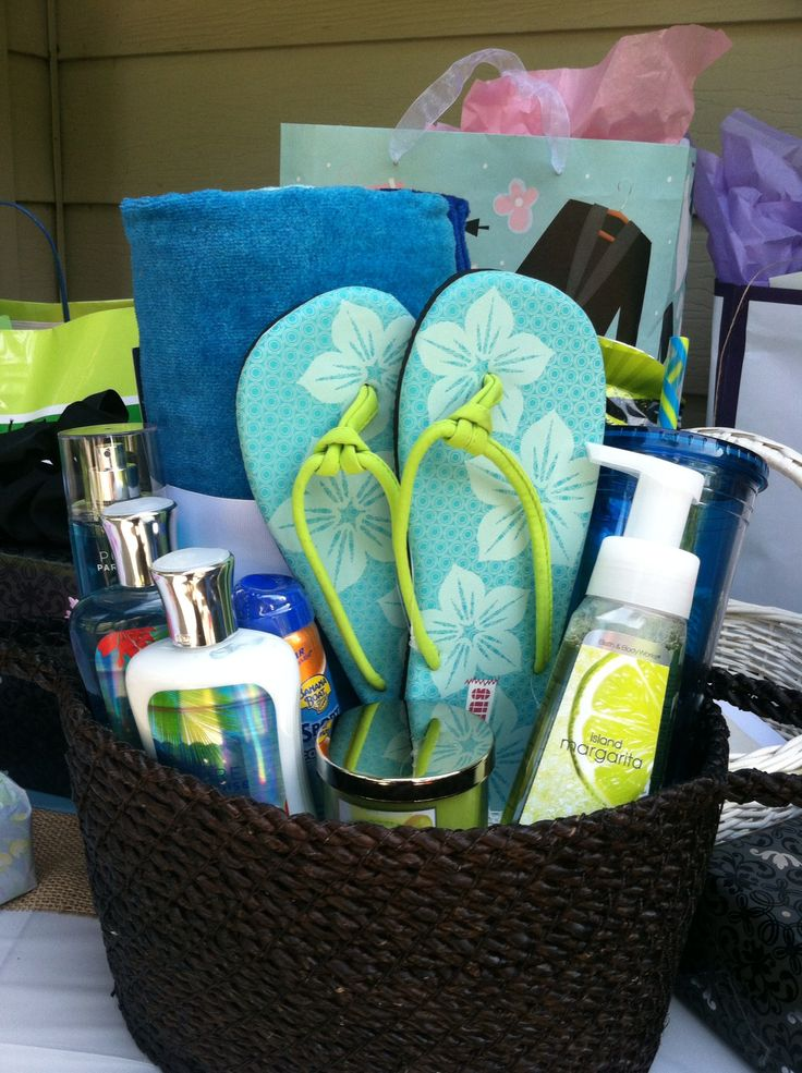 Beach Wedding Gift Basket Ideas : Gifts Baskets, Themed Baskets, Showers Baskets, Beaches Gifts, Baskets ...