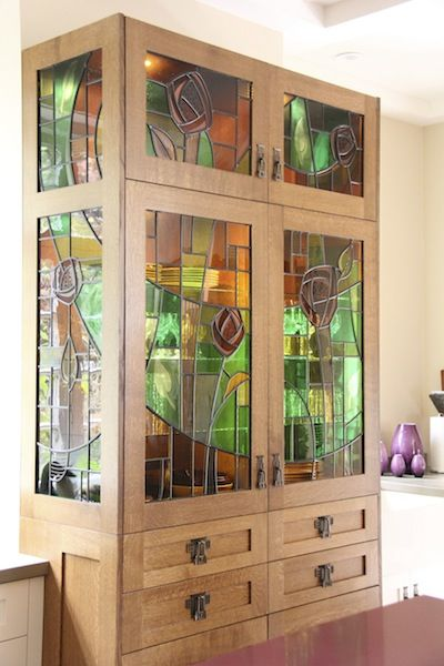 Shaughnessy stained glass cabinet.