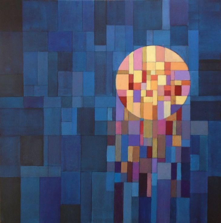ARTFINDER: Light Mosaic by Liam Hennessy - 50cm x 50cm x 4cm Original abstract painting on stretched canvas  I wanted to create a fragmented geometric field of pure colour, built up in layers of var...