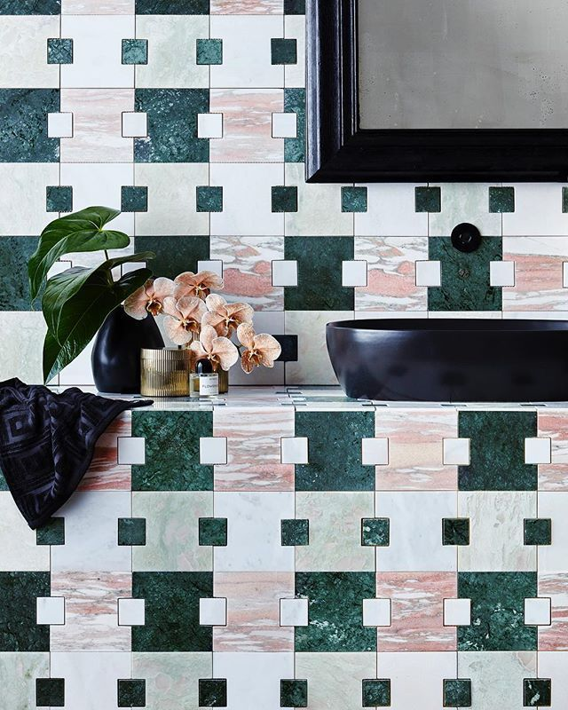 With Each Square Note In My Staccato Marble Tile The Pattern Plays Out Distinctly It S Colourful Green And Pink Repeat Building A Pleasing Visual Rhythm New To