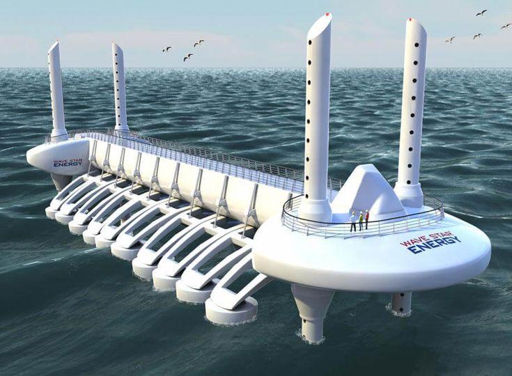 Wavestar est un nouveau type de module destiné à récupérer l'énergie cinétique des vagues afin de produire de l'électricité.