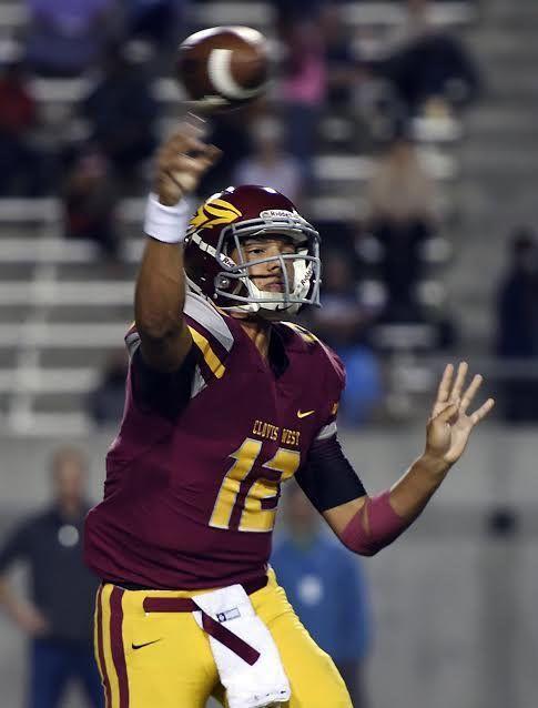 Adrian Martinez    Position: QB    Height: 6-2    Weight: 205    Hometown: Fresno, California    School: Clovis West