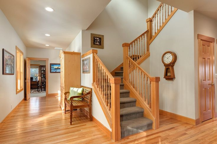 A local example of how stained wood trim can look good if it's matched to the floor and doors.