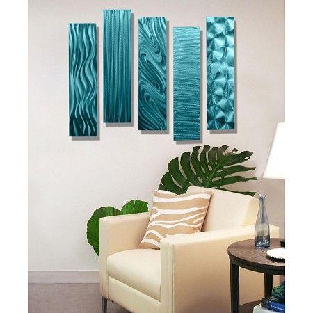5 Easy Pieces Aqua | Living Room Decor | Interior Design | Modern Art |  Modern Part 80