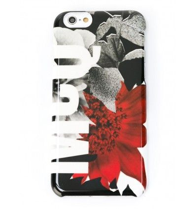Multicoloured floral print Iphone 6 case from McQ Alexander McQueen featuring a printed logo and a glossy finish.