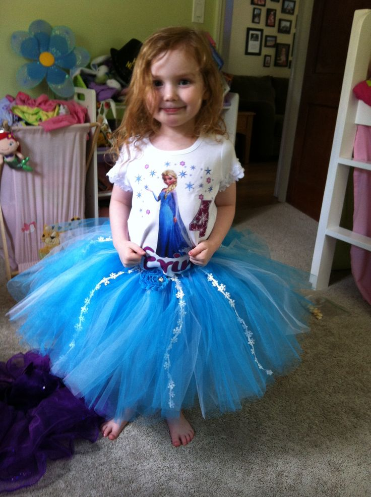 What a big girl! 4 years old! Tutu was great! Purchased from Tutu Maria on etsy!