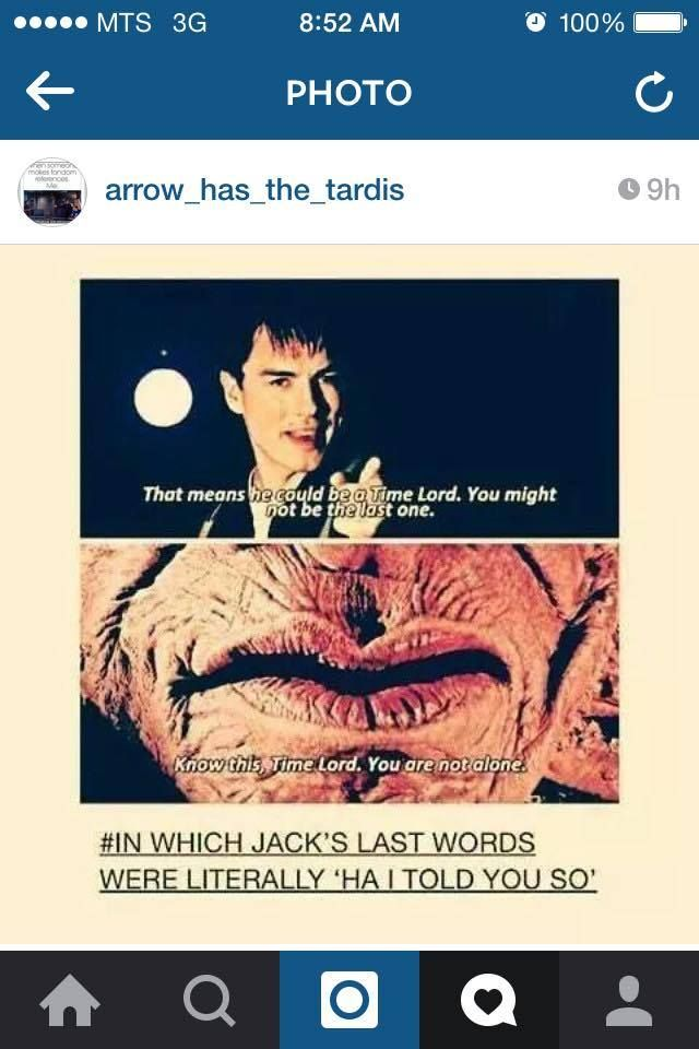 Doctor Who... where we drop the punchline before we tell the joke... wibbly-wobbly, timey-wimey.
