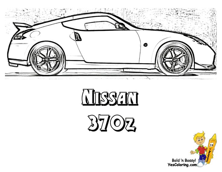 Coloring Nissan GT R Car Pages