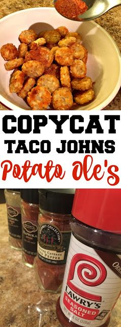 Food Hussy Recipe: Taco John's Potato Ole Seasoning