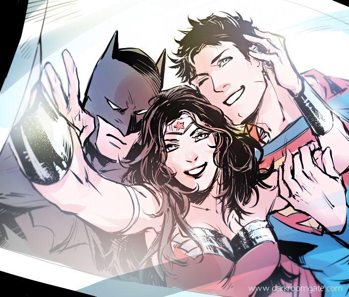 Happy Halloween! Batman/Superman/Wonder Woman © DC Comics Artwork ©