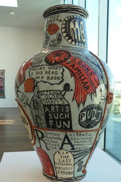 One of #GraysonPerry's celebrated #ceramics... We have serious respect for this…