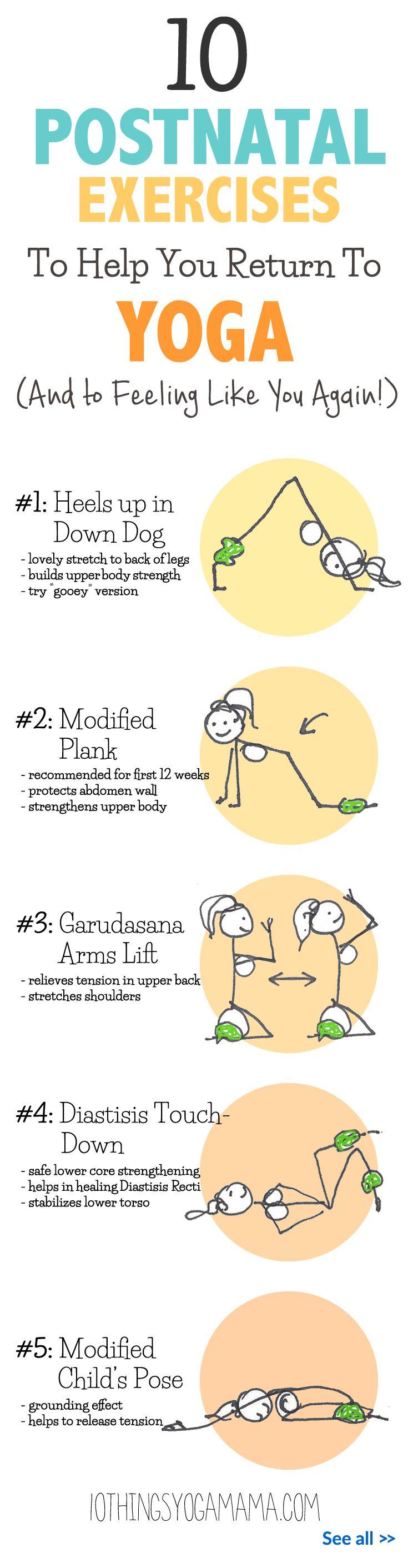 Best Postpartum yoga ideas on Pinterest