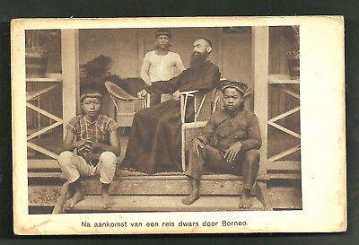 Missionary Man Natives Dayak Borneo Indonesia 20s | eBay