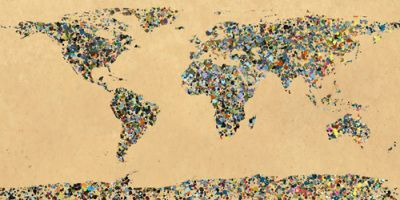 World map - Paint splatter